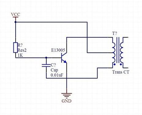自激振荡电路高频变压器